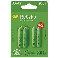 Wiederaufladbarer Akku GP ReCyko 1000 AAA (HR03), 6 Stk - Akku