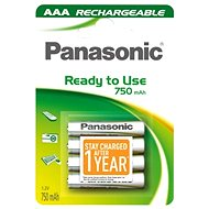 Panasonic Ready to Use AAA HHR-4MVE/4BC 750 mAh 3+1 ZDARMA - Akkus