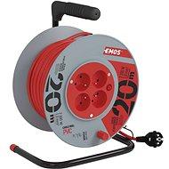 EMOS Verlängerungskabel mit Trommel PVC - 4 Buchsen, 20 m, 1 mm2 - Verlängerungskabel