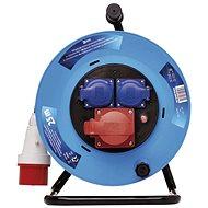EMOS Verlängerungskabel mit Trommel Gummi - 3 Steckdosen, 25 m, 1,5 mm2 - Verlängerungskabel