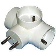 Splitter EMOS 3x rund, weiß