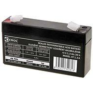 EMOS Wartungsfreie Blei-Säure Batterie 6 V/1,3 Ah, 4,7 mm Faston-Klemme - Akku