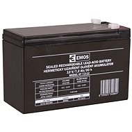 EMOS Wartungsfreie Blei-Säure Batterie 12 V/7,2 Ah, 4,7 mm Faston-Klemme - Akku