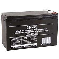 EMOS Wartungsfreie Blei-Säure Batterie 12 V/7,2 Ah, 6,3 mm Faston-Klemme - Akku