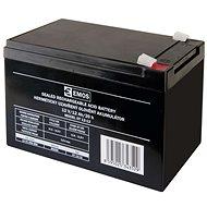 EMOS Wartungsfreie Blei-Säure Batterie 12 V/12 Ah, 6,3 mm Faston-Klemme - Akku
