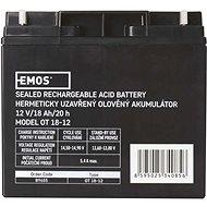 EMOS Wartungsfreie Blei-Säure Batterie 12 V/18 Ah - Akku