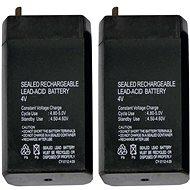 EMOS Wartungsfreie Blei-Säure Batterie 4 V/0,7 Ah - 2 Stück - Akku