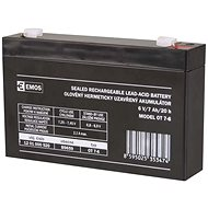 EMOS Wartungsfreie Blei-Säure Batterie 6 V/7 Ah, 4,7 mm Faston-Klemme - Akku