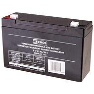 EMOS Wartungsfreie Blei-Säure Batterie 6 V/12 Ah, 4,7 mm Faston-Klemme - Akku