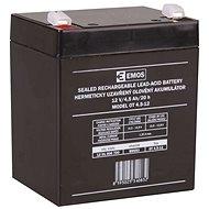 EMOS Wartungsfreie Blei-Säure Batterie 12 V/4,5 Ah, 4,7 mm Faston-Klemme - Akku