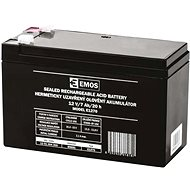EMOS Wartungsfreie Blei-Säure Batterie 12 V/7 Ah, 4,7 mm Faston-Klemme - Akku