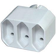 EMOS Splitter Sockel 3 × flach, weiß - Splitter
