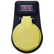EMOS Buchse mit Schalter, IP44, schwarz