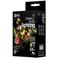 EMOS LED-Weihnachtslichterkette, 18 m, warmweiss, Timer