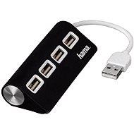 Hama USB 2.0 4 port černý - USB Hub