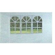 Vetro Plus Seitenwände zum Gartenpavillon mit Fenster, weiß - Seitenwand