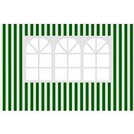 Vetro-Plus Seitenwand zum Gartenpavillon mit einem Fenster, mit Streifen - Seitenwand