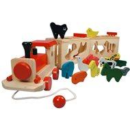 Bino Zug mit Tieren - Zoo Trenino - Didaktisches Spielzeug