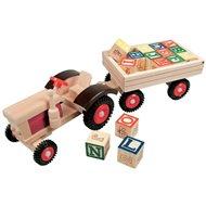 Bino Traktor s gumovými koly a vlečkou - Auto