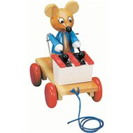 Bino Ziehspielzeug Maus mit Xylophon - Nachziehspielzeug