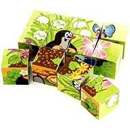 Bild-Würfel Der kleine Maulwurf und der Vogel - 12 Holzwürfel - Obrázkové kostky