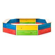 Woody Sandkasten aus Holz - bunt - Sandkasten
