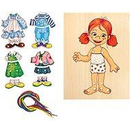 Didaktisches Spielzeug Woody Schnürkleiderschrank - Mädchen - Didaktická hračka