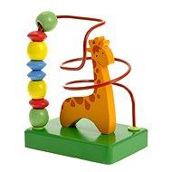 Woody Motorický labyrint - Žirafa - Didaktisches Spielzeug