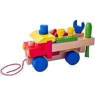 Didaktisches Spielzeug Woody Montagewagen - Didaktická hračka