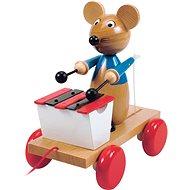 Woody Maus mit Xylophon - Nachziehspielzeug