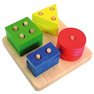 Woody Steckspiel mit geometrischen Formen aus Holz - Didaktisches Spielzeug
