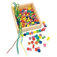 Woody Navlékací perle v krabičce - Didaktisches Spielzeug