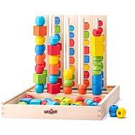 Didaktisches Spielzeug Woody Steckspielzeug Logik