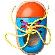 Didaktisches Spielzeug Woody Schuh mit Schuhbändern - Didaktická hračka