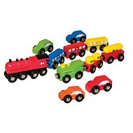 Woody Autos und Züge -