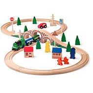 Woody Modelleisenbahn Acht mit einer el. Maschine - Modelleisenbahn