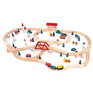 Woody Eisenbahn mit Brücke und Bahnhof - Modelleisenbahn