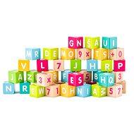 Woody Würfel mit Buchstaben und Zahlen und - Spielset