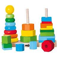Woody Set faltende Türme - Didaktisches Spielzeug