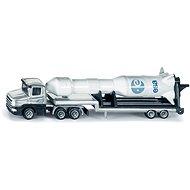 Siku Blister - Traktor mit Tieflader und Rakete - Metall-Model