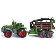 Traktor mit Anhänger für Baumstämme - Metall-Model