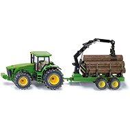 Siku Farmer John Deere Traktor mit Forstanhänger