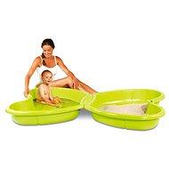Sandkasten und Schwimmbad mit Springbrunnen - Sandkasten