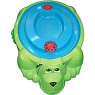 Pool Dog Green mit blauer Abdeckung - Sandkasten