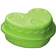Sandbox – Kinder-Pool Herz mit Abdeckung grün - Sandkasten
