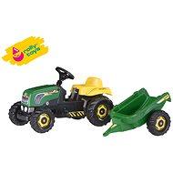 Pedatraktor Rolly Kid mit Anhänger - Grün - Trettraktor