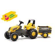 Rolly Junior Trettraktor mit Farm Trailer Anhänger - gelb - Trettraktor