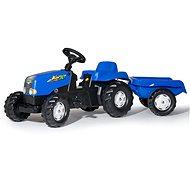 Rolly Toys Rolly Kid Tretschlepper blau mit Abstellgleis - Trettraktor