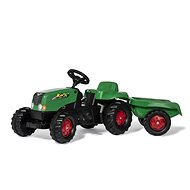 Trettraktor Rolly Toys Rolly Kid Tretschlepper grün-rot mit Abstellgleis - Šlapací traktor