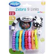 Playgro - Zebra 9 Links Beißring - Interaktives Spielzeug